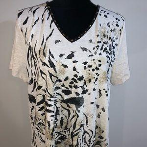 ALFRED DUNNER short sleeve shirt M